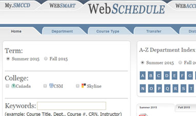 WebSchedule Screenshot